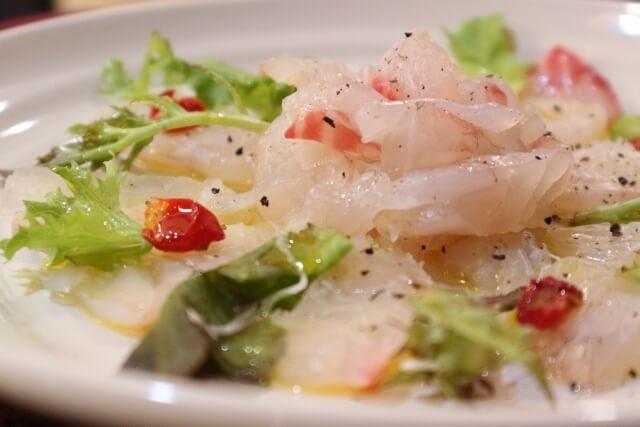 大野智 真鯛のカルパッチョ