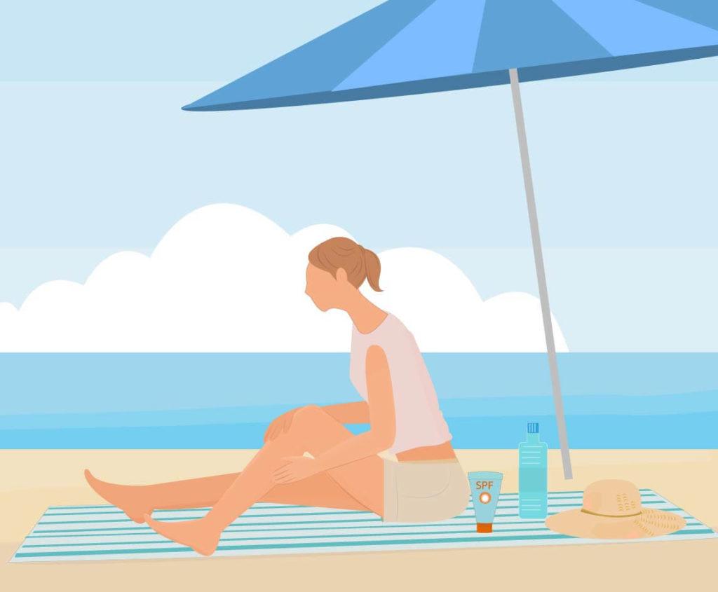 夏のマスク焼けを防ぐ対策に最適!濡れても落ちないウォータープルーフの日焼け止めクリーム