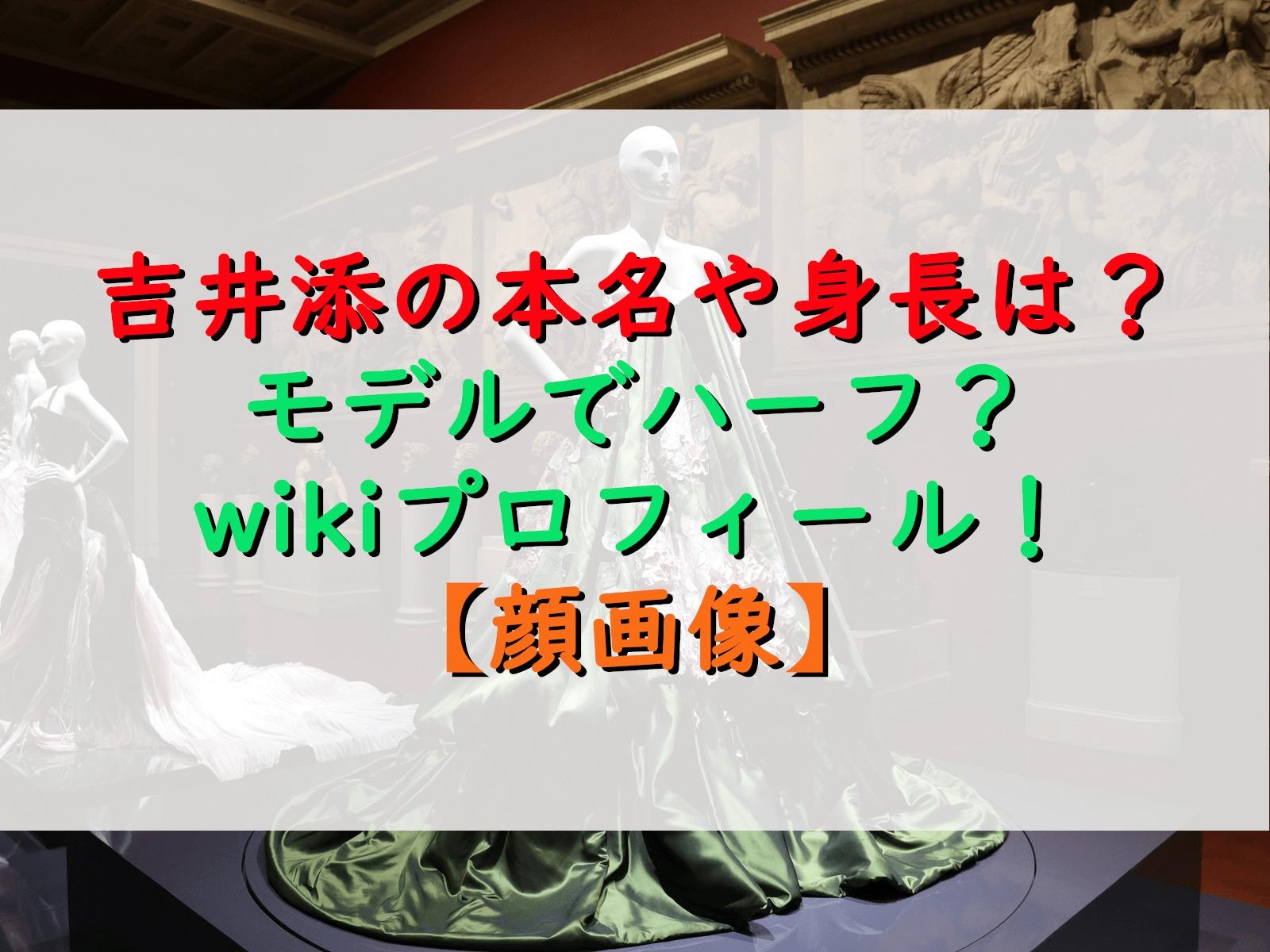 吉井添の本名や身長は?モデルでハーフ?wikiプロフィール!【顔画像】